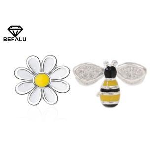 Khuyên Tai Nữ Bạc 925 Hình Chú Ong Và Hoa BEFALU - BT24