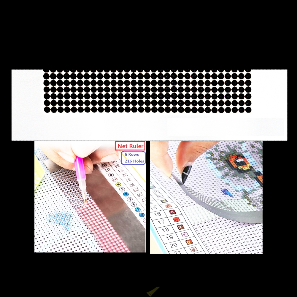 Anti-stick Embroidery DIY Sewing Craft Accessories Magic Tool Stainless Steel Mesh Diamond Painting Ruler