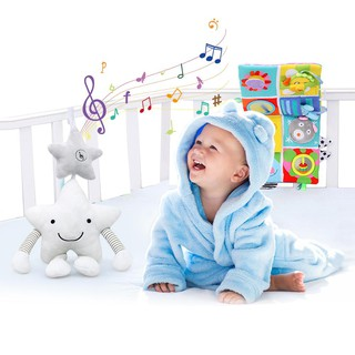 SU Baby Plush Toy Musical Star Crib Wind Chime Newborn Mobile Stroller Pendant