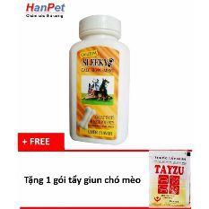 Canxi CHẮC XƯƠNG CHÓ MÈO - Sleeky hương bò (hanpet 313)- tặng 1 gói tẩy giun chó mèo