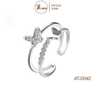 [Mã FABRRE4 giảm 10k đơn từ 0Đ] Nhẫn bạc 925 hình bươm bướm đính đá xinh xắn thời trang cho nữ ANTA Jewelry ATJ3342 thumbnail