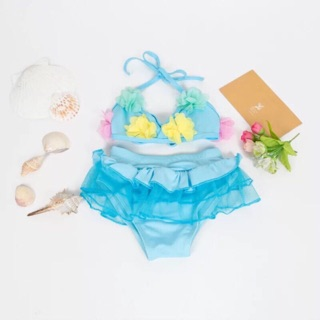 Bộ bikini thêu hoa bé gái size 2-6 tuổi thumbnail