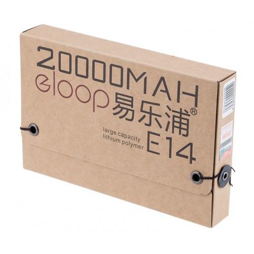 [Mã ELMS5 giảm 7% đơn 300K] Pin sạc dự phòng Eloop E14 vỏ kim loại nhôm - 20.000 mAh