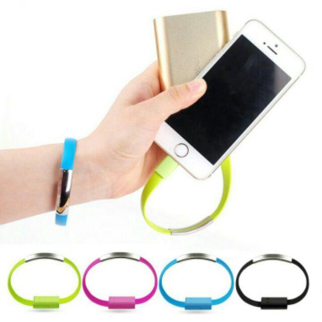 Cáp sạc Iphone kết hợp vòng đeo tay