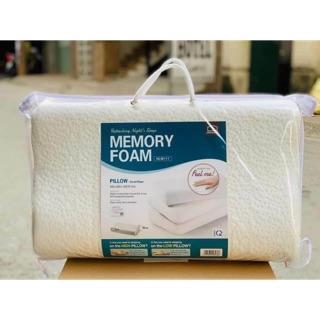 [LOCK&LOCK CHÍNH HÃNG] Gối Memory Foam 50D Lock&Lock Hình Cong - White - HLW111