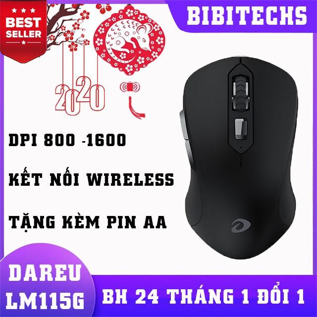 Chuột không dây Dareu LM115G BH chính hãng 24 tháng - BiBiTechs