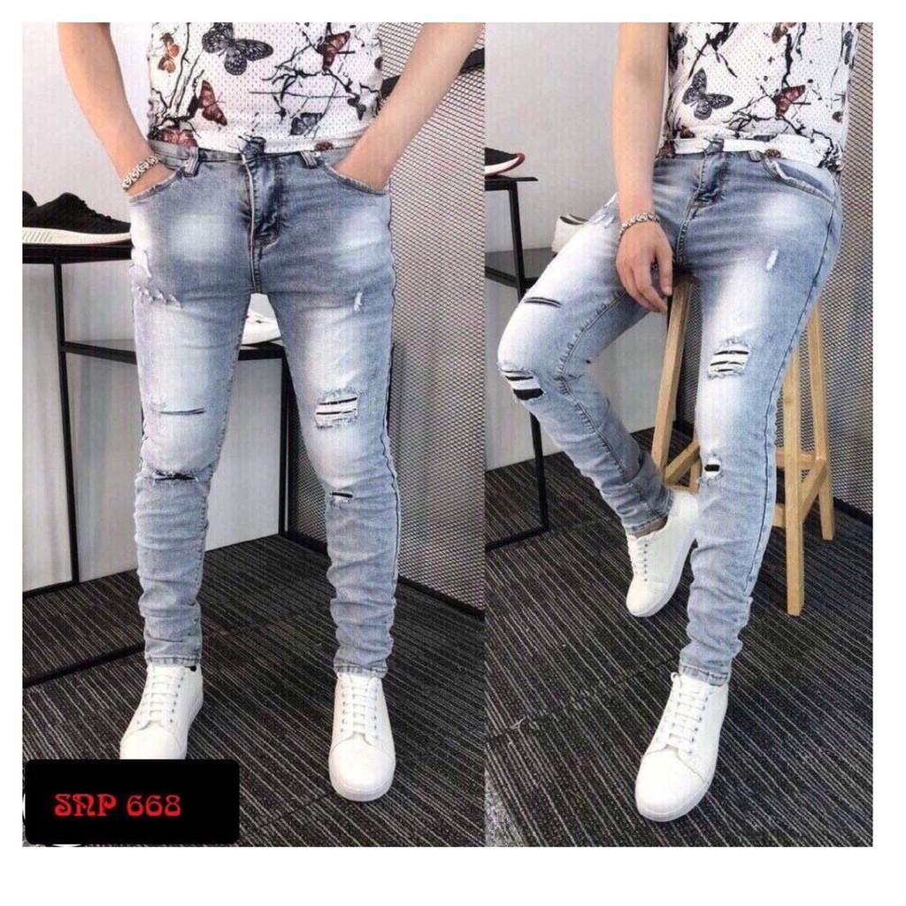 quần jean nam mẩu mới phong cách đẹp giãn tốt 668