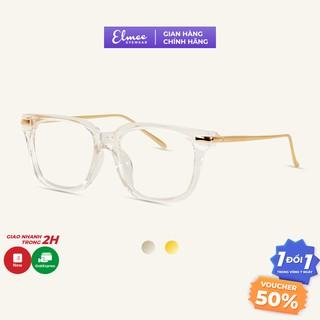 Gọng kính cận mắt vuông dày cá tính Elmee chất liệu nhựa cao cấp phối hợp kim phù hợp cho cả nam và nữ H55 thumbnail