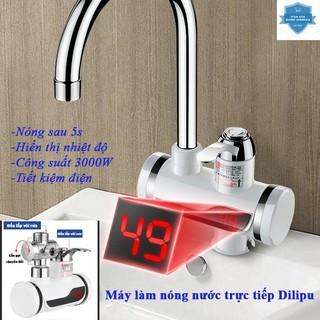 (Gắn bồn rửa bát) Máy làm nóng nước trực tiếp tại vòi Dilipu GB-01 công suất suất 3000W rửa bát kèm đầu cắm chống giật thumbnail