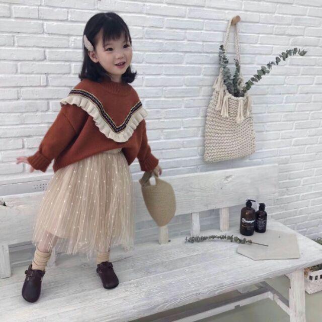 Áo len hàng cao cấp cho bé gái đẹp đ