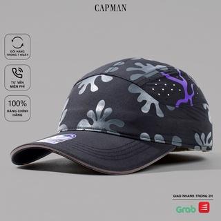 Mũ lưỡi trai CAPMAN chính hãng full box, nón kết nam CM107 màu tím hoa văn thumbnail