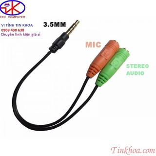 [Mã ELORDER5 giảm 10K đơn 20K] Cáp chia audio 3.5mm ra mic và loa.