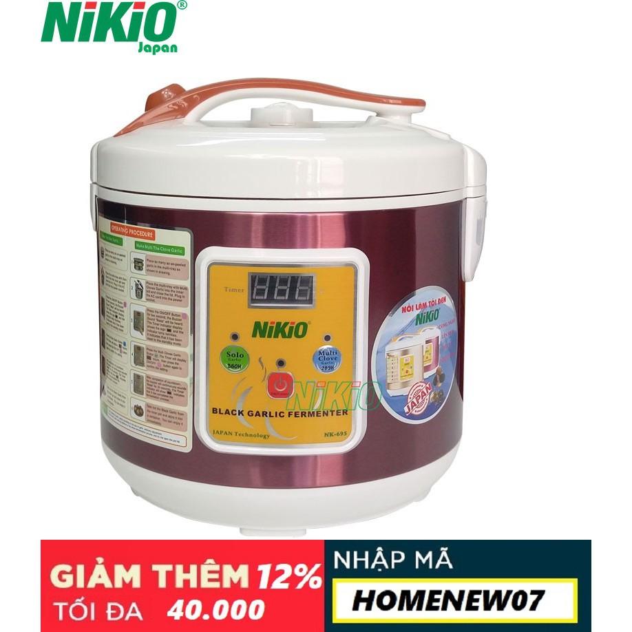 Máy làm tỏi đen Nhật Bản Nikio NK-696 - 6 lít - Đỏ Tím [Mới 2018]