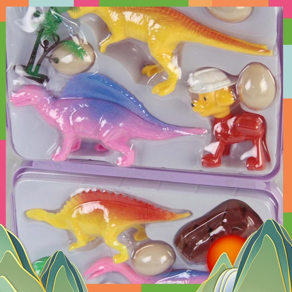 Bộ đồ chơi khủng long tiền sử có cặp dễ dàng mang theo LCC- 2 giá sỉ
