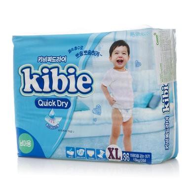 [Hot Sập Giá ] Bỉm Kibie Dán Hàn Quốc XL36 cho bé trai và bé gái