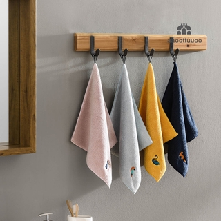 Baby Soft Plush Bath Towel Baby Nursery Hand Towel Cartoon Hanging Bathing Towel