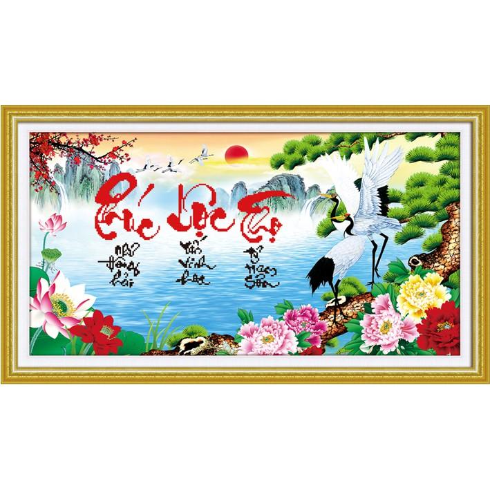 Tranh thêu chữ thập 3D Phúc Lộc Thọ 222994