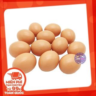 Bộ đồ chơi 12 quả trứng gà bằng nhựa túi lưới