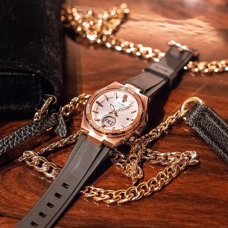 Đồng hồ nữ dây nhựa Casio Baby-G chính hãng Anh Khuê MSG-S200G-1ADR