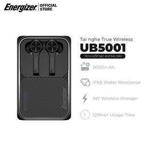 Tai nghe True Wireless Stereo Energizer UB5001, sạc dự phòng 5000mAh, bluetooth V5.0, kháng nước IPX5 - Hàng Chính Hãng