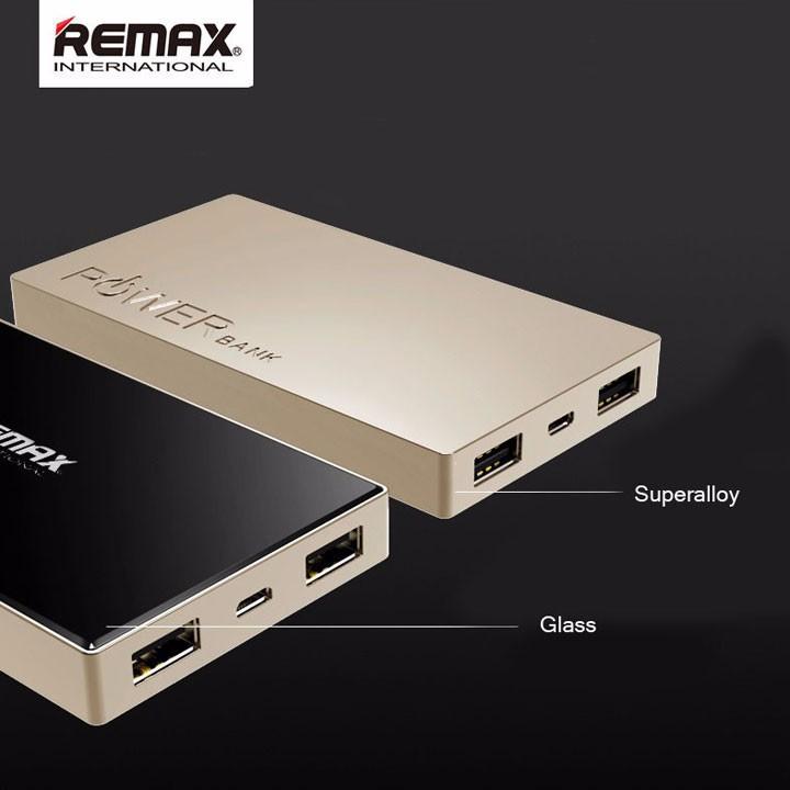 Pin sạc dự phòng Remax 6000 mAh RPP-30 Nhôm nguyên khối mặt kính Nobox