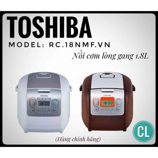 [Nhập ELHATOP04 giảm 20K]NỒI CƠM ĐIỆN TOSHIBA RC-18NMF.VN- hàng chính hãng