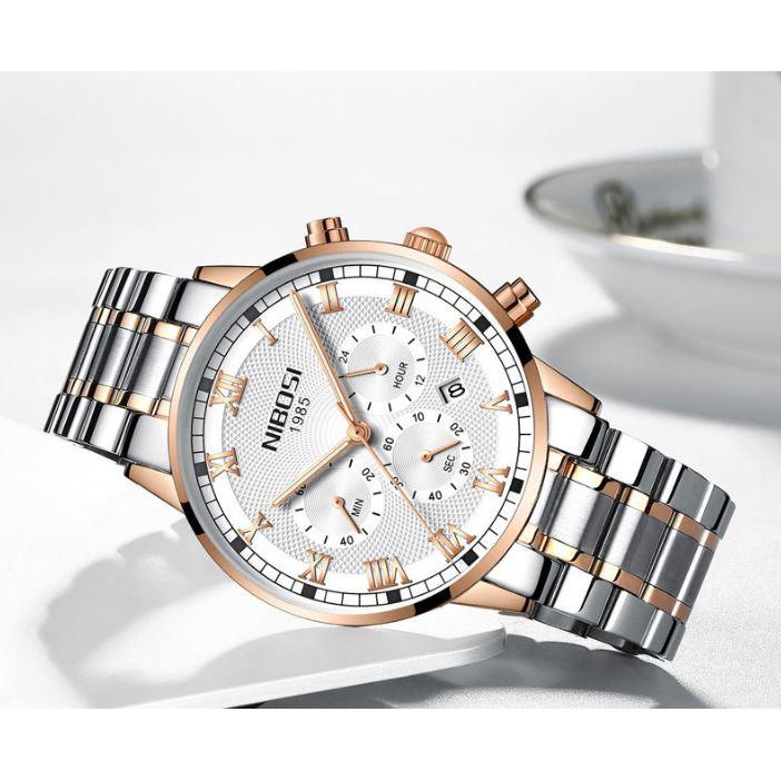 [Tặng vòng tay]Đồng hồ nam NIBOSI chính hãng NI2339.01B tặng dụng cụ tháo chốt