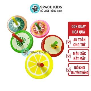 Đồ chơi trẻ em Space Kids Con quay gỗ hình hoa quả dễ thương nhiều màu sắc cho bé thumbnail