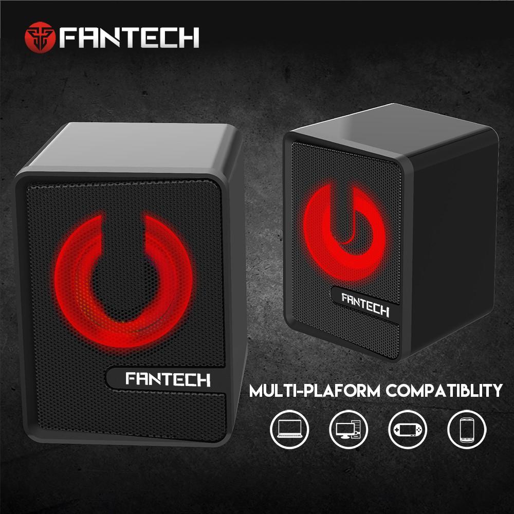 Loa vi tính Gaming có ánh sáng LED siêu gọn nhẹ dùng cho máy tính, laptop, điện thoại - Fantech GS203 BEAT - Hãng Phân P