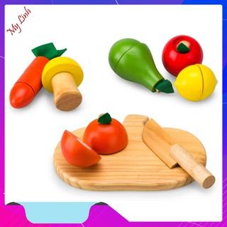 Bồ đồ chơi cắt hoa quả gỗ cho bé chất lượng nhất [HÀNG SIÊU CHẤT LƯỢNG]