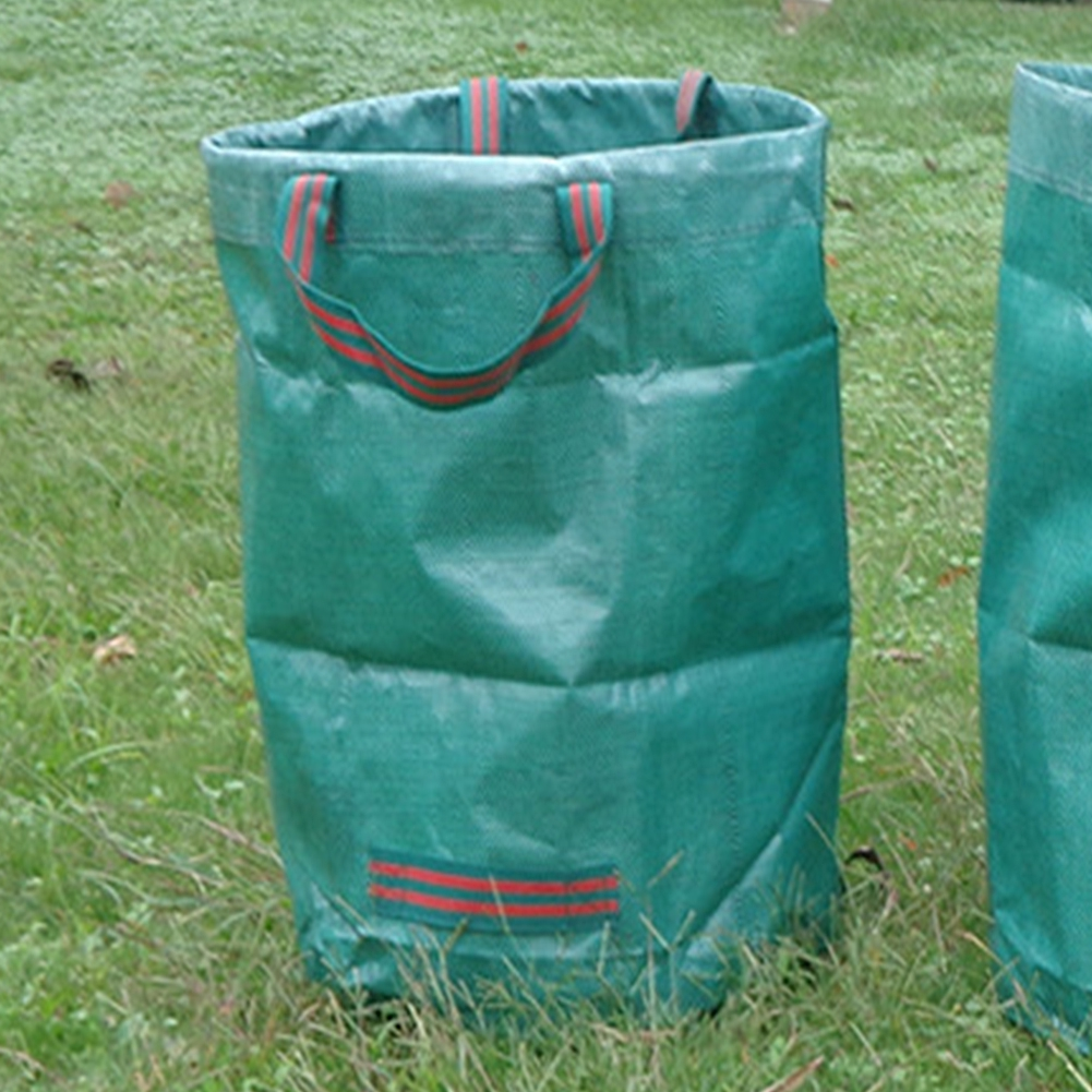 Durable Plants Leaves Waste Bags for Gardening Landscaping Transport Green