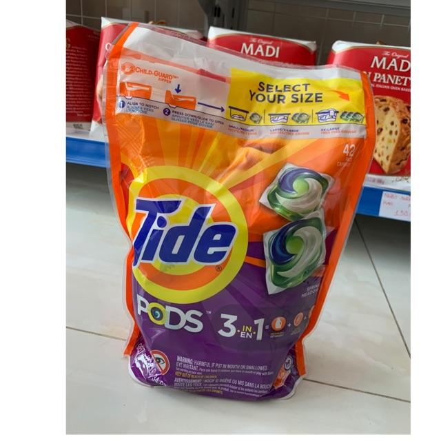 [Mã 157FMCGSALE giảm 8% đơn 500K] Viên giặt tide mỹ 42 viên mẫu mới