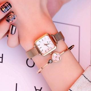Đồng hồ nữ Kimio 6236 hàng chính hãng dây kim mặt vuông sang trọng thumbnail