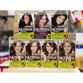 Thuốc nhuộm tóc phủ bạc 100% của Garnier Nutrisse Creme hàng xách tay từ Đức