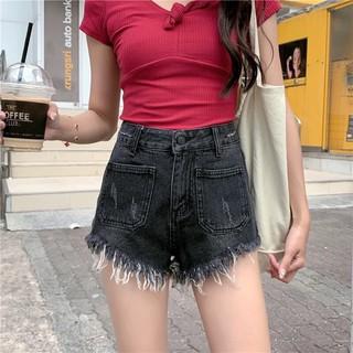 (Order) Có bigsize Quần jeans gấu tua rua 2 túi trước