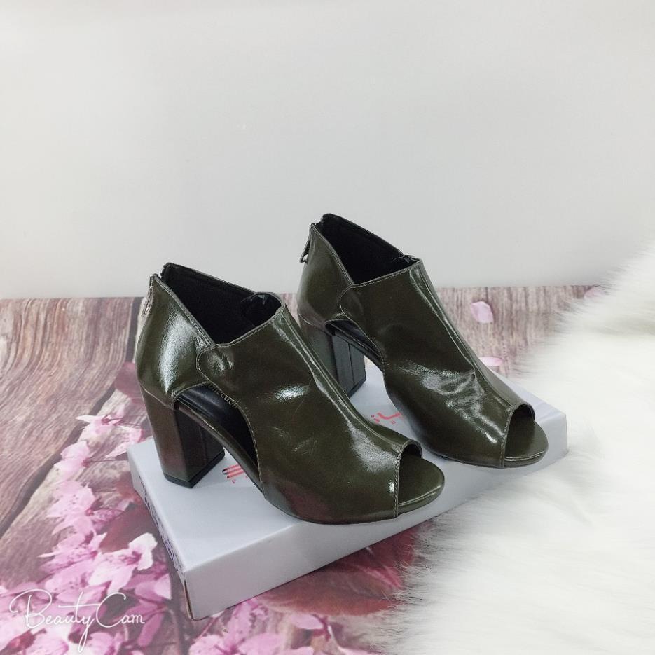 Giày Boot Cổ Thấp, Da Êm Cao 7cm Giày Nữ Cao Cấp