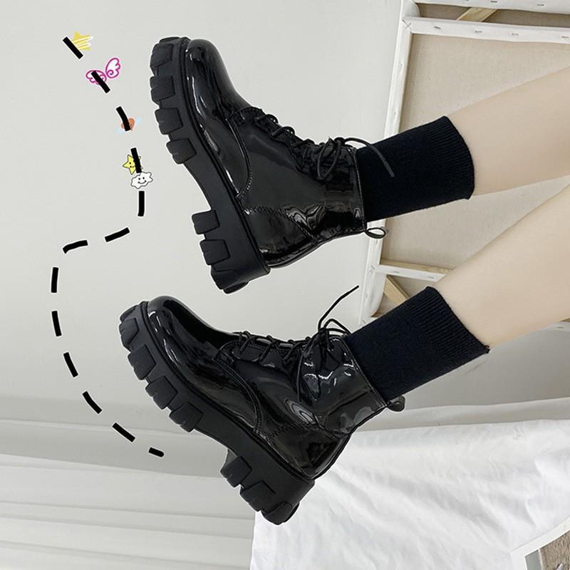 [SẴN NHÁM 35] Giày ulzzang cao cổ đế đinh cá tính (ảnh thật shop chụp)