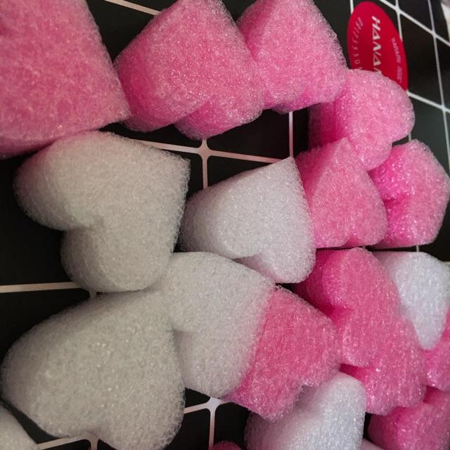 Xốp trái tim ( Nguyên liệu trang trí Slime/ gói 30 viên)
