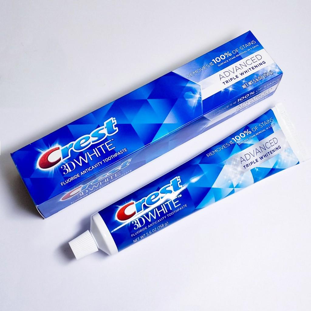 Kem đánh răng Crest 3D White Advanced Triple Whitening 158gr   Shopee Việt  Nam