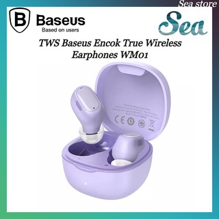 Tai nghe không dây Bluetooth 5.0 Baseus WM01 - Thiết kế thông minh - Ổn định - Chống ồn - Pin trâu - Chính hãng