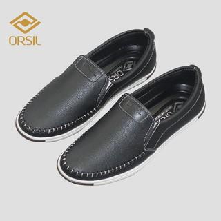 [Mã FAMALLT5 giảm 15% đơn 150K] Giày lười da nam ORSIL màu đen năng động - MD1