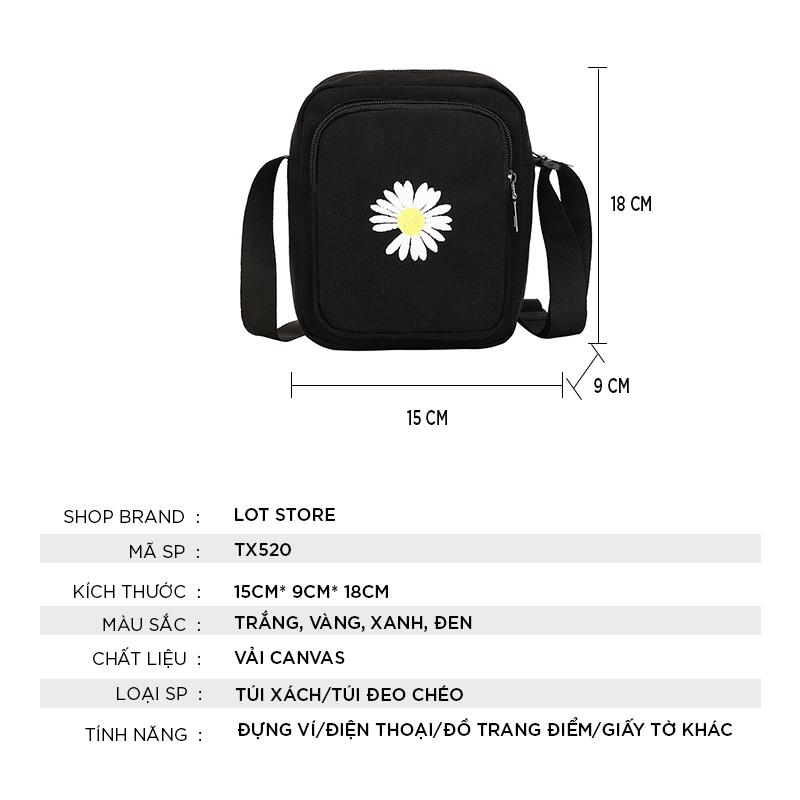 Túi đeo chéo nữ mini đi học cá tính giá rẻ dễ thương nhiều ngăn TX520