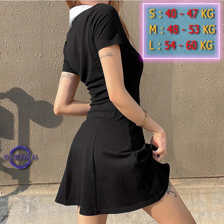Mặc gì đẹp: Siêu xinh với Váy polo body tay ngắn xinh yêu, đầm polo đi dự tiệc đi chơi dạo phố đi bar sang chảnh rẻ đẹp OZENKA