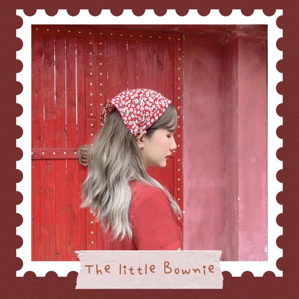 Khăn Turban voan hoa nhí Bownie