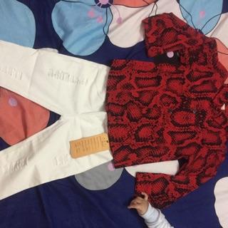 Set áo thô lụa quần thô
