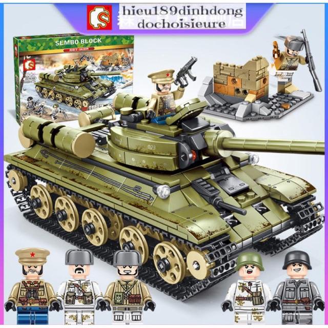 Lắp ráp xếp hình Xe tank 101038