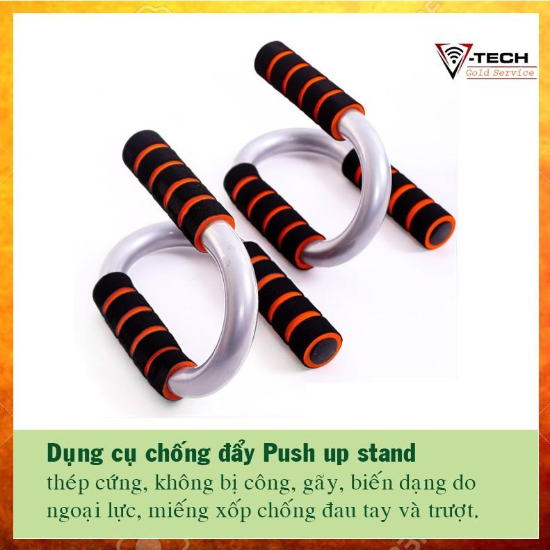Dụng cụ chống đẩy, hít đất Push up stand, giúp bạn tự luyện tập chống đẩy, hít đất ở nhà cực kì tiện