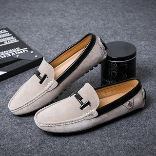 Giày lười nam làm từ da lộn