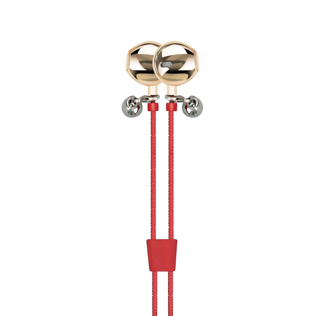 Tai nghe Promate Vogue-2 kiêm vòng tay da kèm Mic (Đỏ)