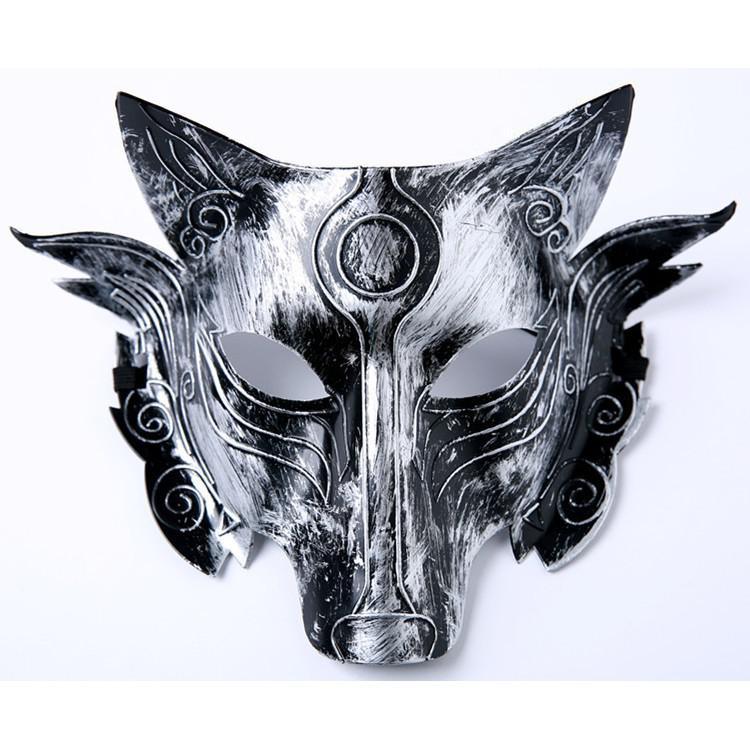 (M10) mặt nạ hóa trang-măt nạ sói ( hàng sẵn )